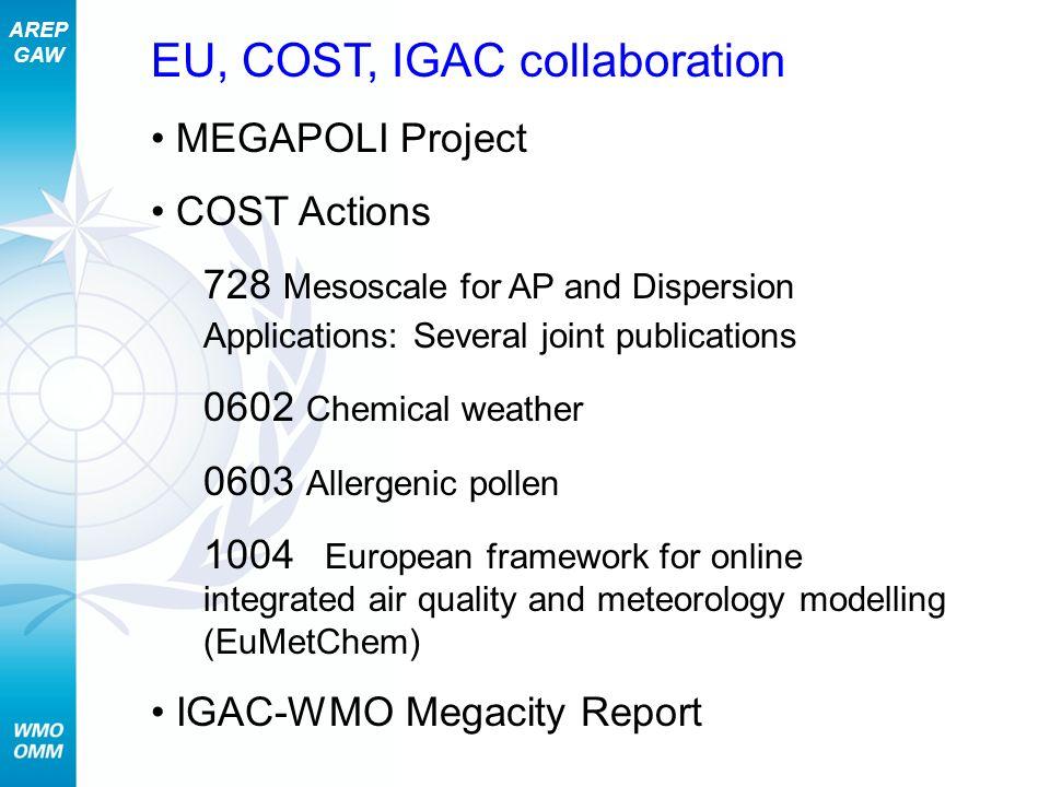 EU, COST, IGAC collaboration