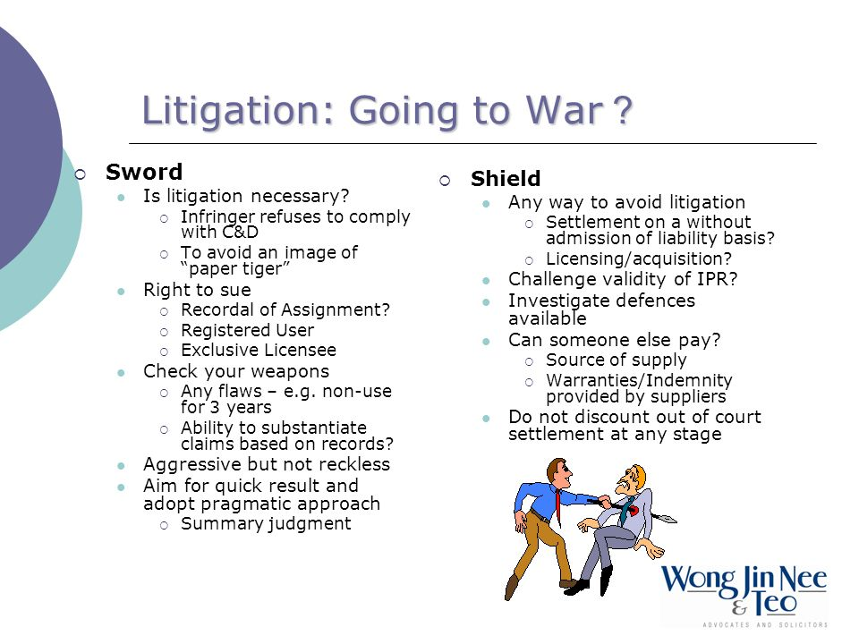 Litigation: Going to War