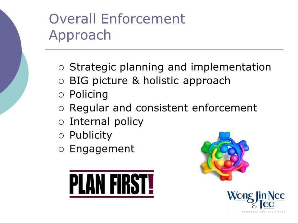 Overall Enforcement Approach