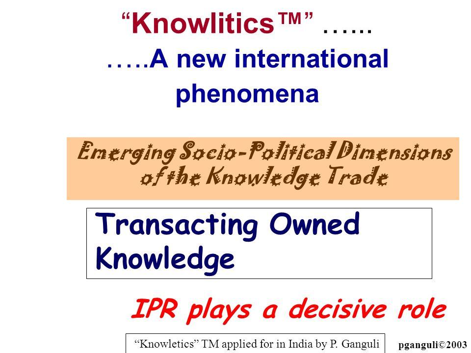 Knowlitics™ …... …..A new international phenomena