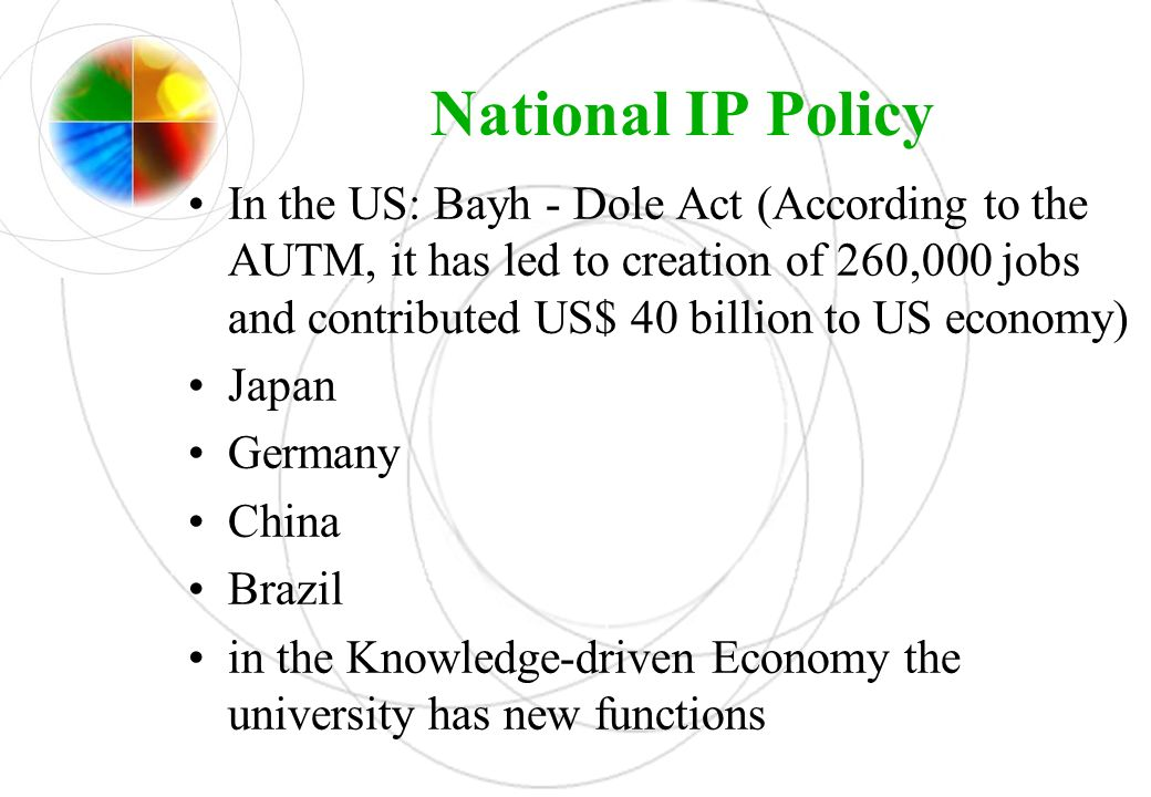 National IP Policy