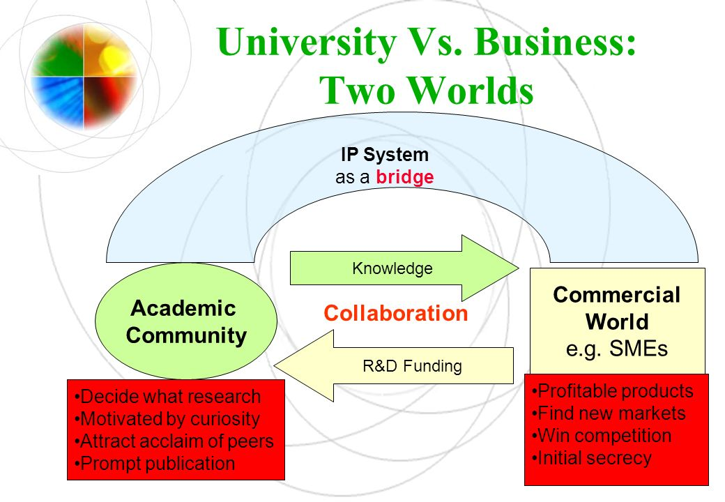 University Vs. Business: Two Worlds