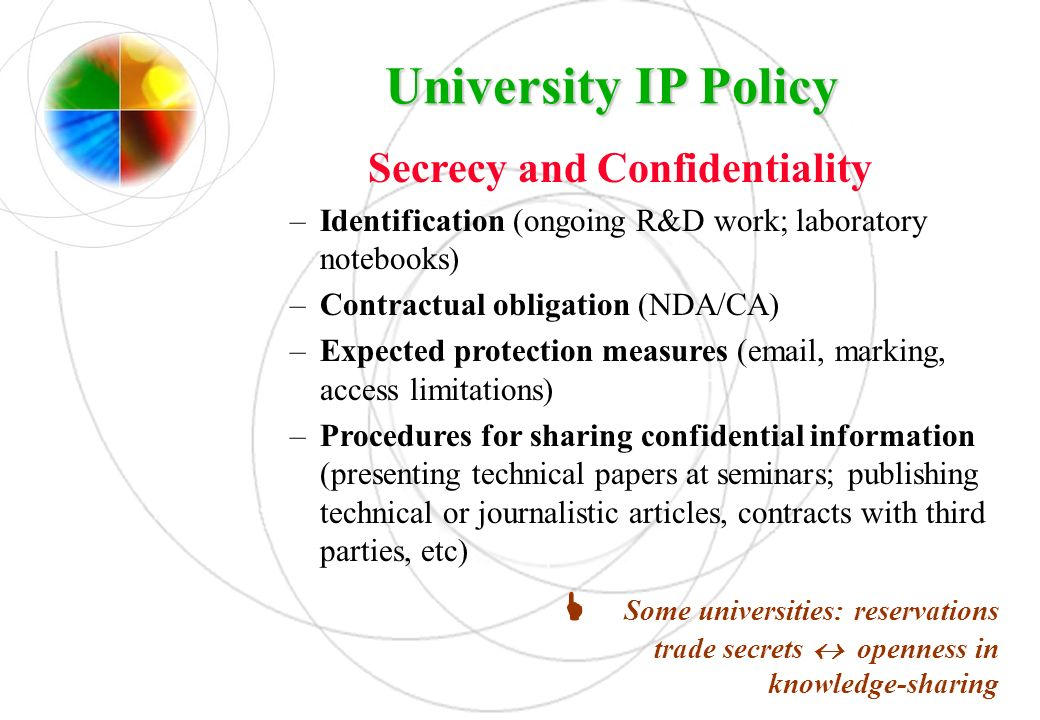 Secrecy and Confidentiality
