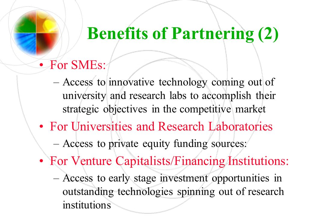 Benefits of Partnering (2)