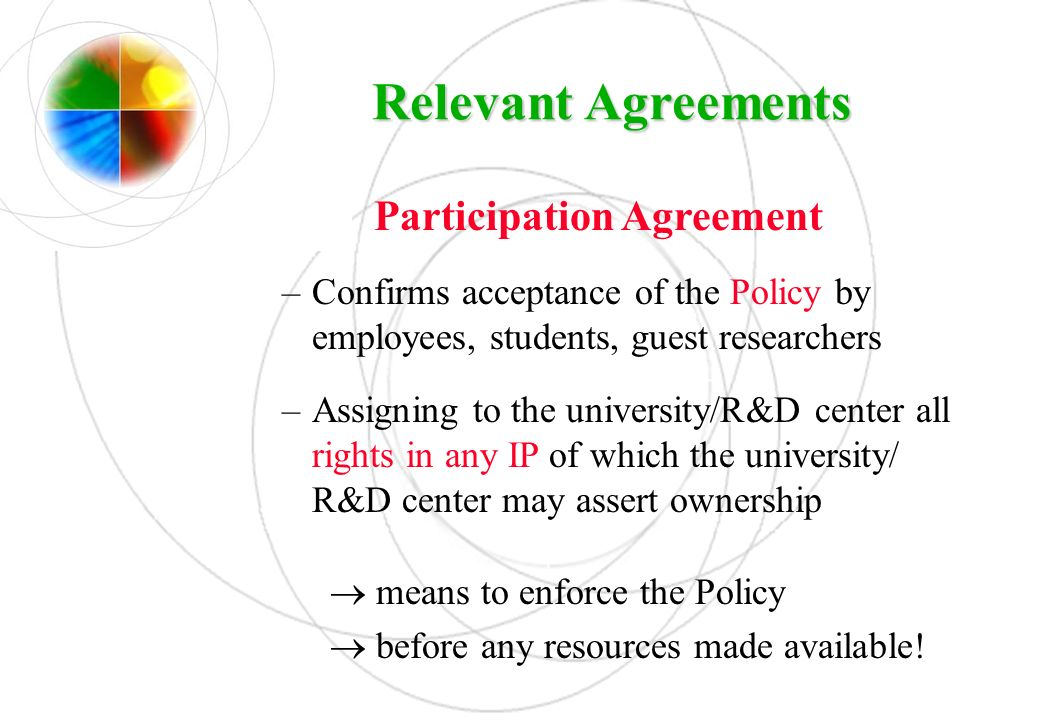 Participation Agreement