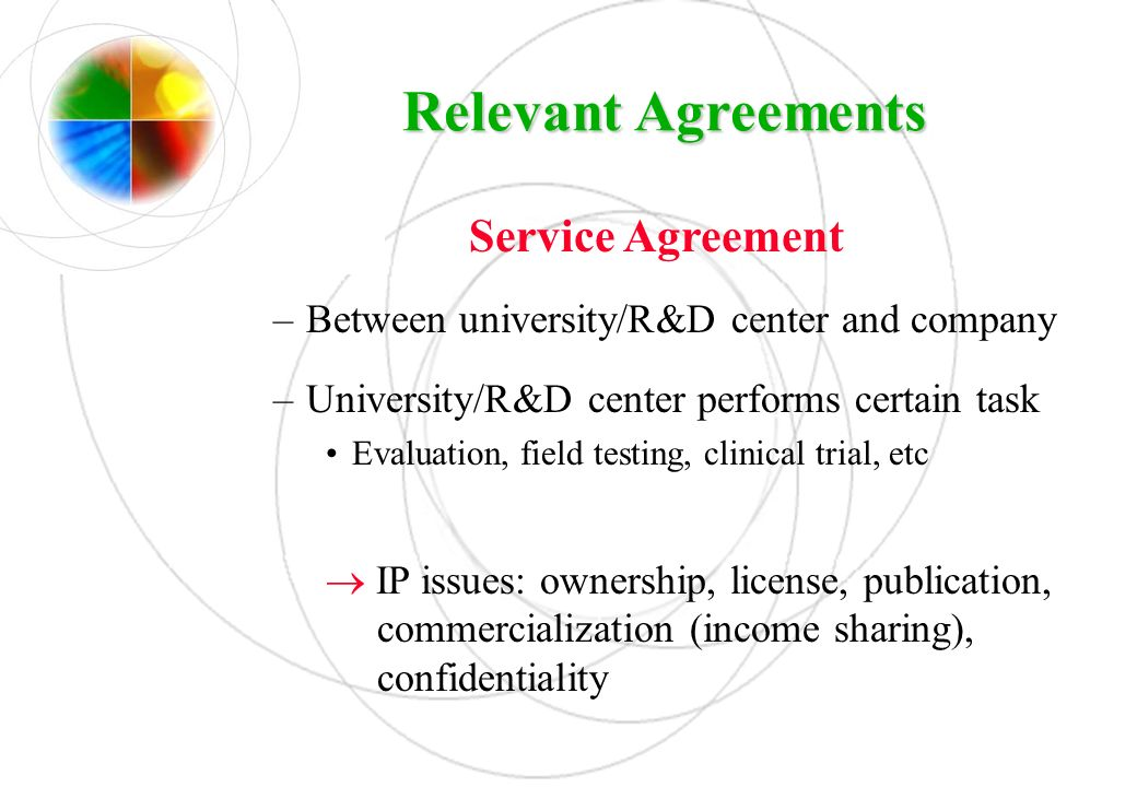 Relevant Agreements Service Agreement