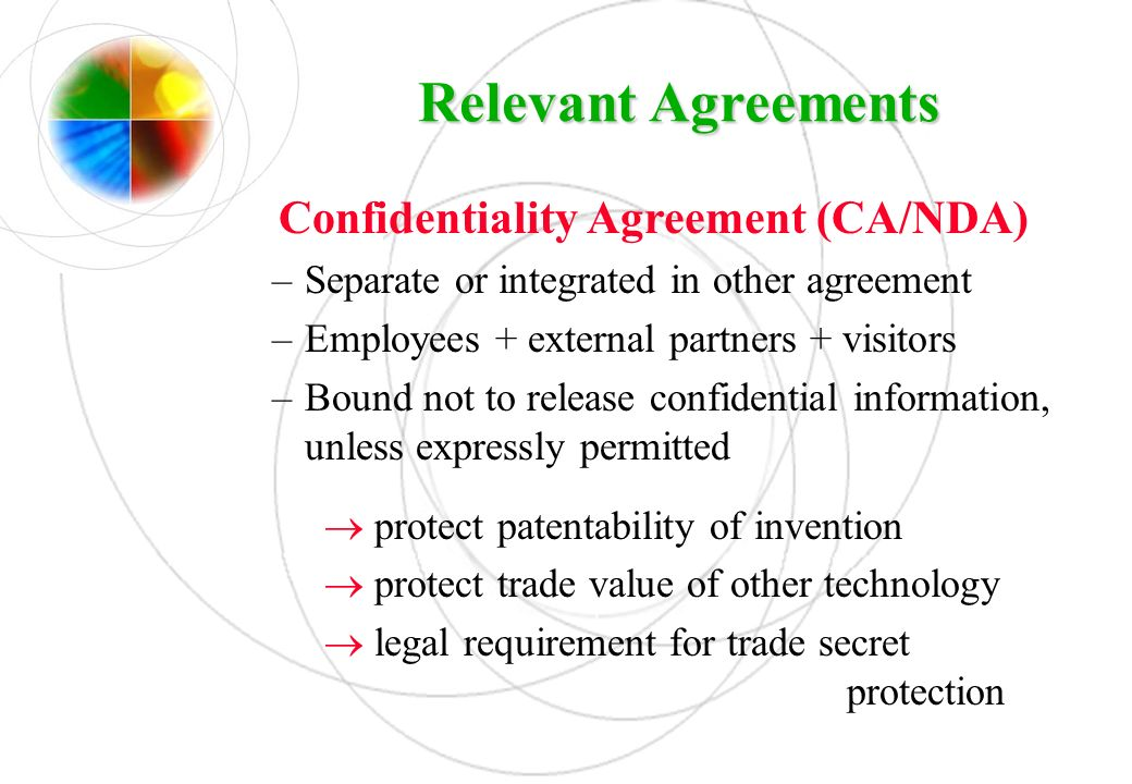 Confidentiality Agreement (CA/NDA)