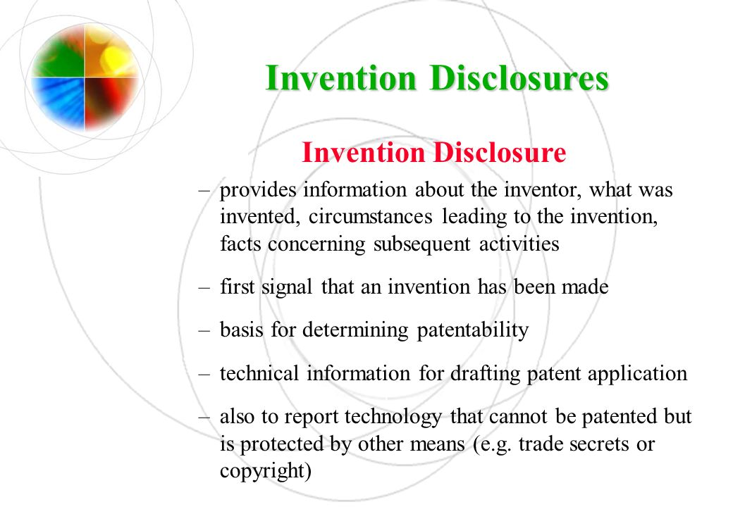 Invention Disclosures