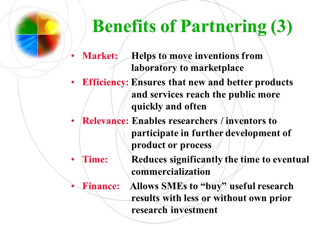 Benefits of Partnering (3)