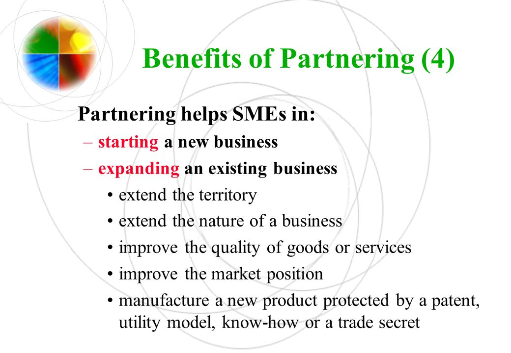Benefits of Partnering (4)