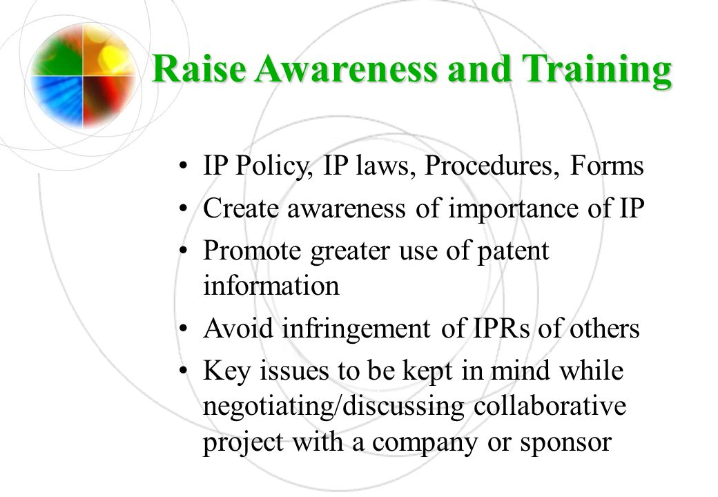 Raise Awareness and Training