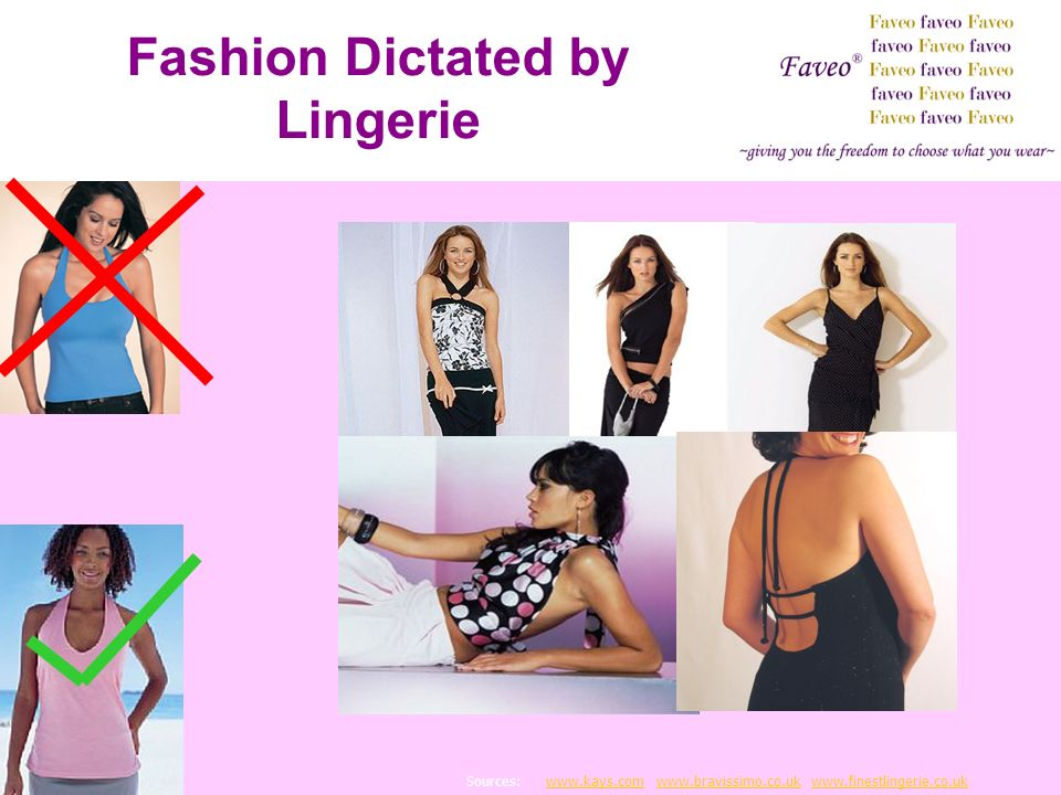 Fashion Dictated by Lingerie