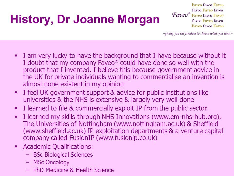 History, Dr Joanne Morgan