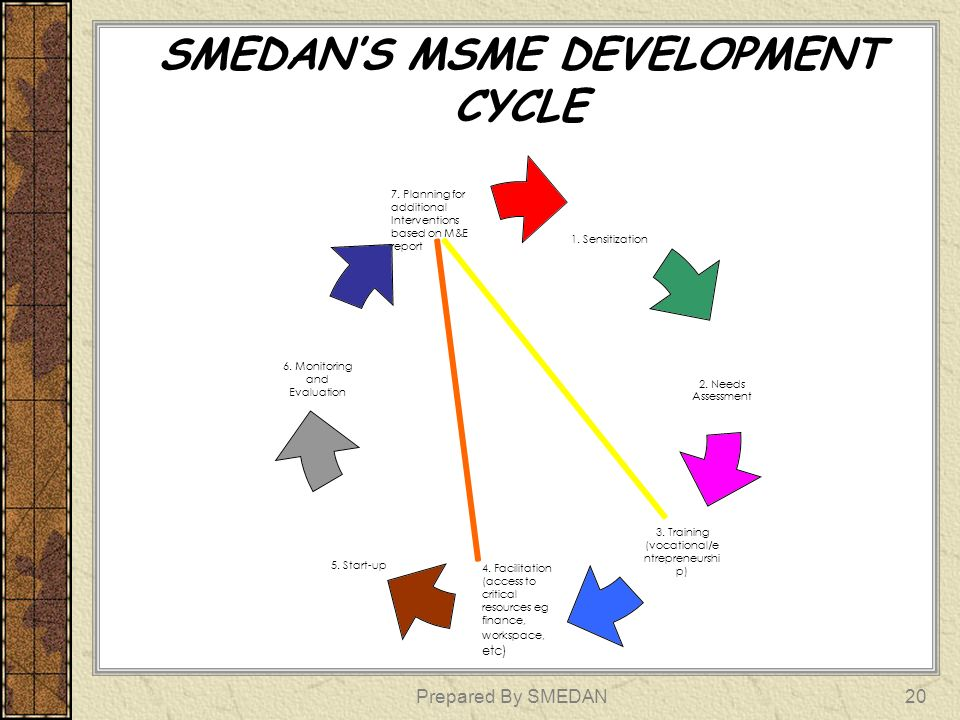 SMEDAN'S MSME DEVELOPMENT CYCLE