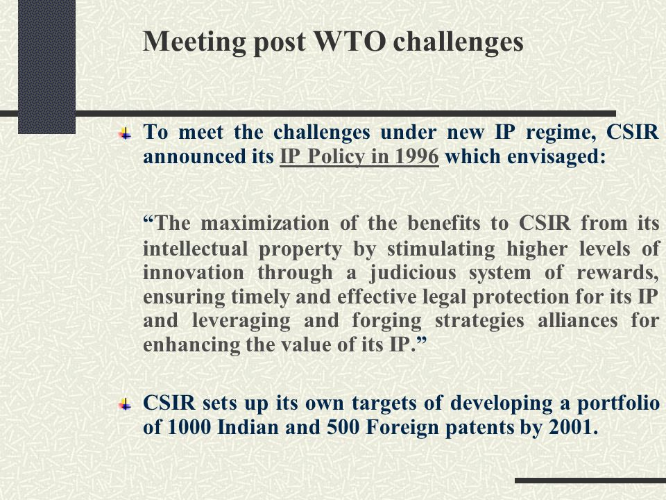 Meeting post WTO challenges
