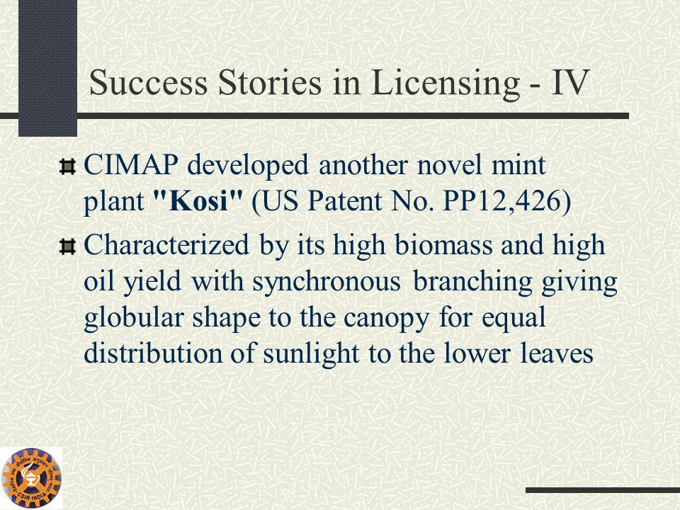 Success Stories in Licensing - IV