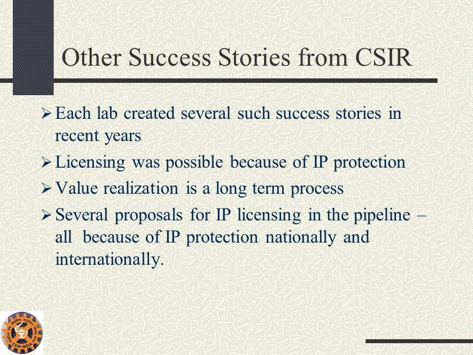 Other Success Stories from CSIR