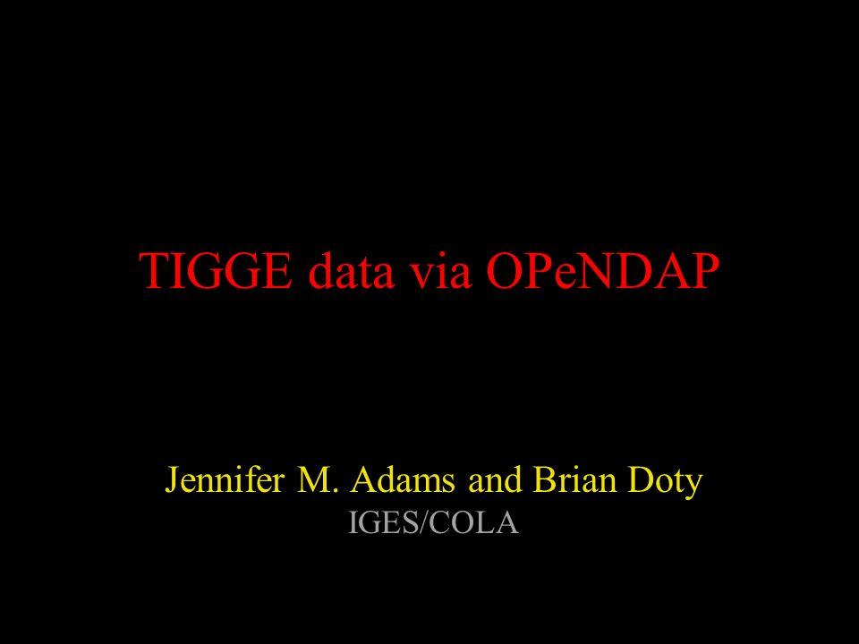 Jennifer M. Adams and Brian Doty IGES/COLA