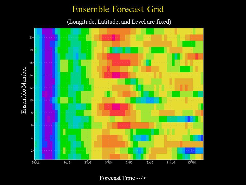 Ensemble Forecast Grid (Longitude, Latitude, and Level are fixed)