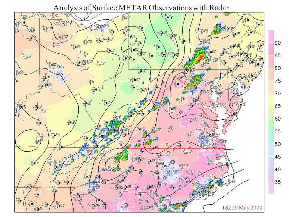 Analysis of Surface METAR Observations with Radar