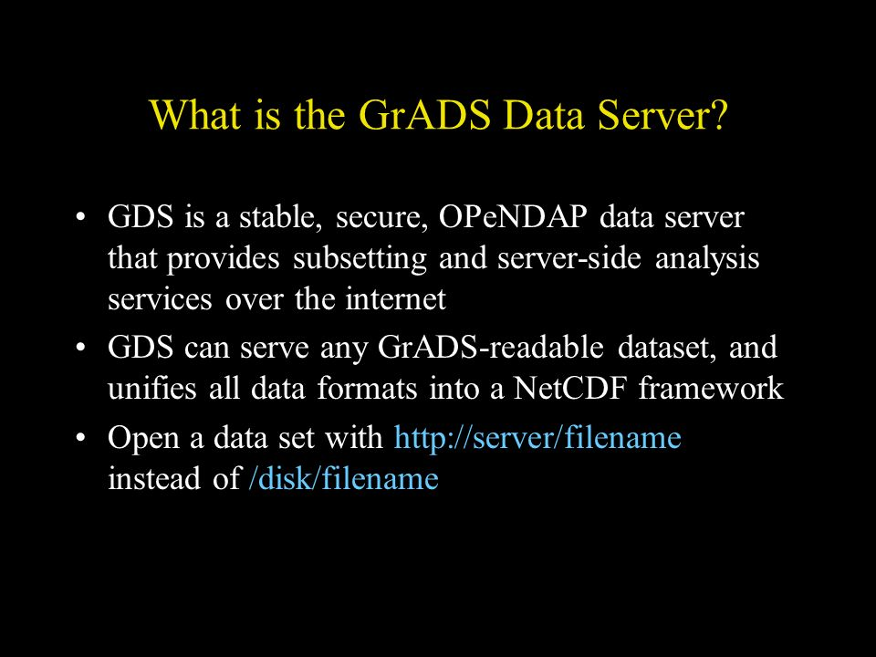 What is the GrADS Data Server