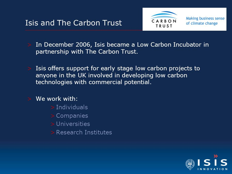 Isis and The Carbon Trust