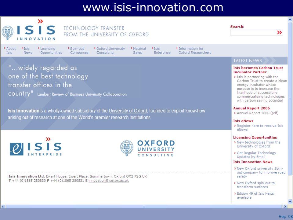 www.isis-innovation.com Sep 08
