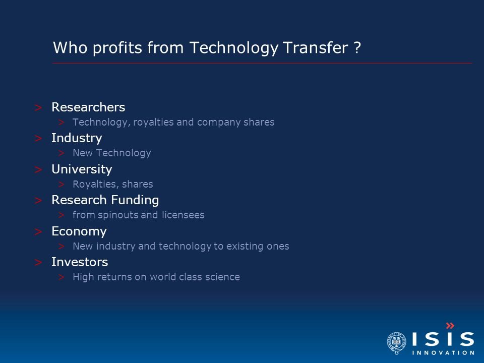 Who profits from Technology Transfer