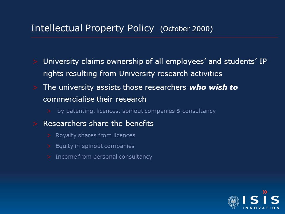 Intellectual Property Policy (October 2000)