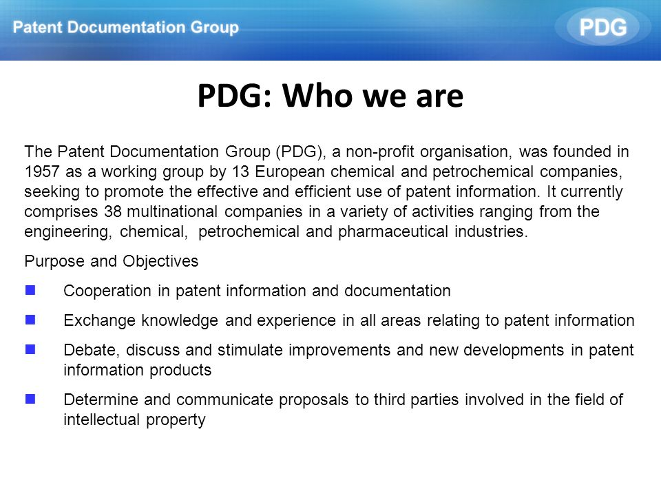 PDG: Who we are