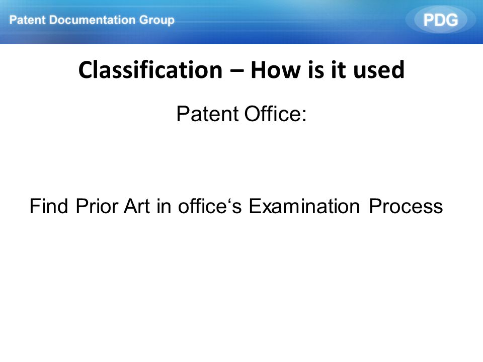 Classification – How is it used