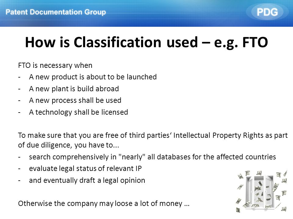 How is Classification used – e.g. FTO