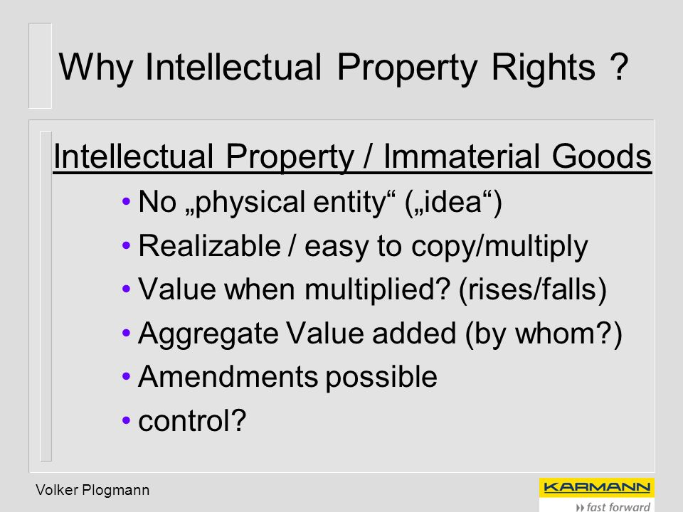 Why Intellectual Property Rights