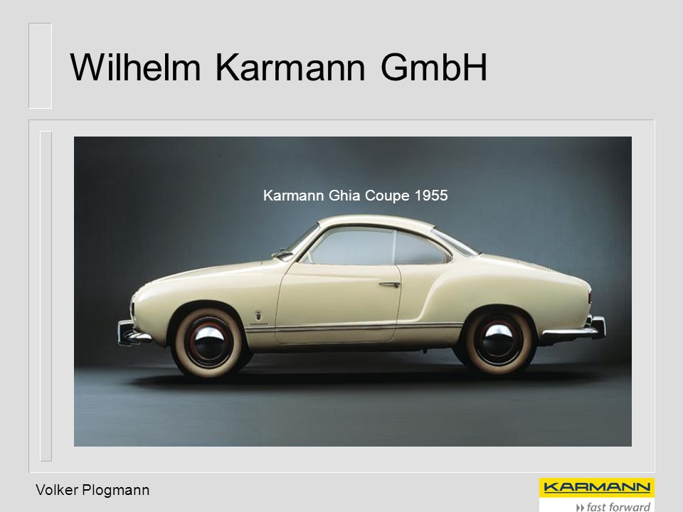Wilhelm Karmann GmbH Karmann Ghia Coupe 1955 Volker Plogmann