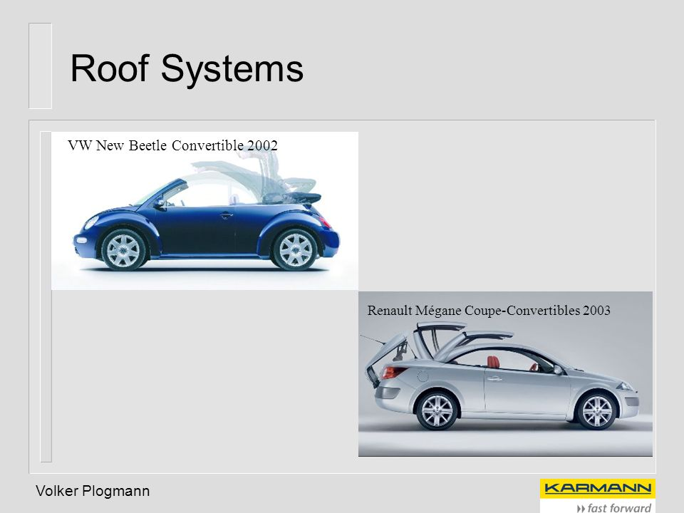 Roof Systems VW New Beetle Convertible 2002 Volker Plogmann