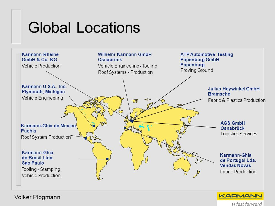 Global Locations Volker Plogmann Karmann-Rheine GmbH & Co. KG