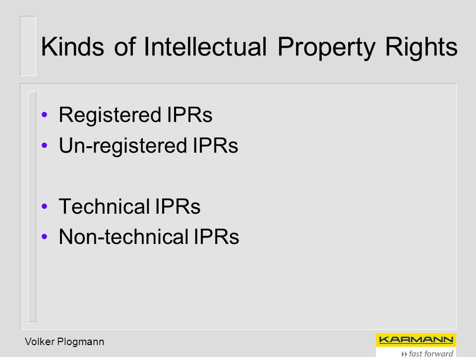 Kinds of Intellectual Property Rights