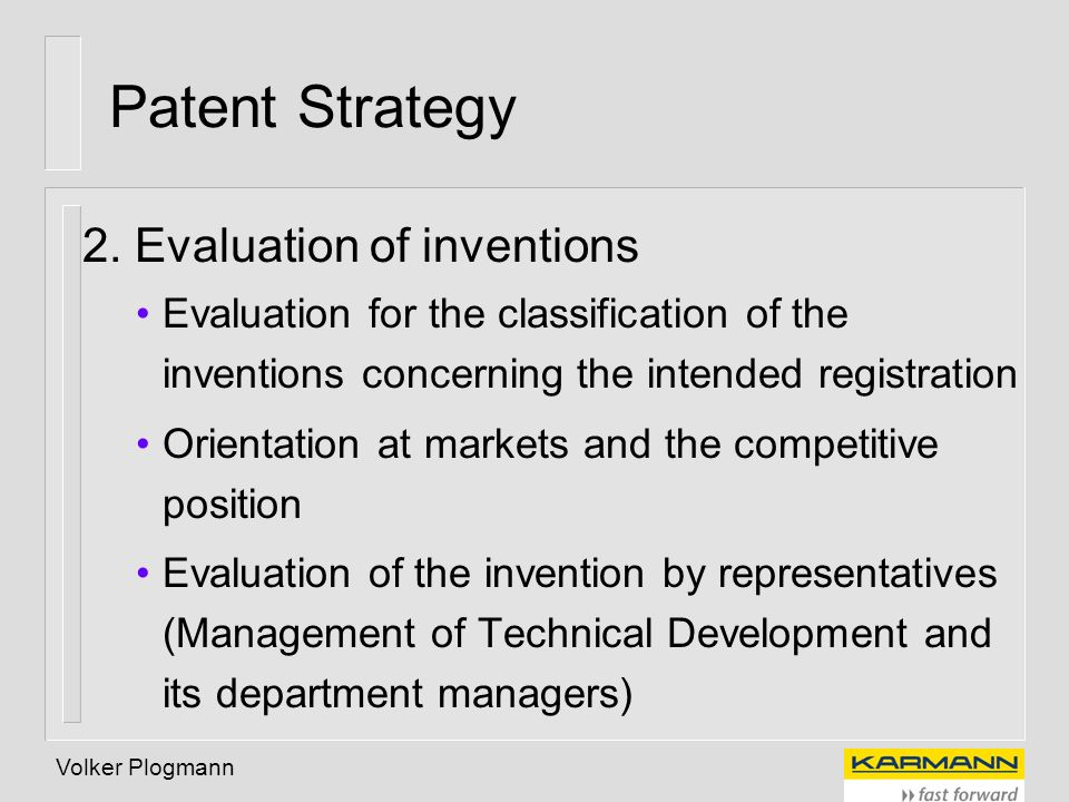Patent Strategy 2. Evaluation of inventions