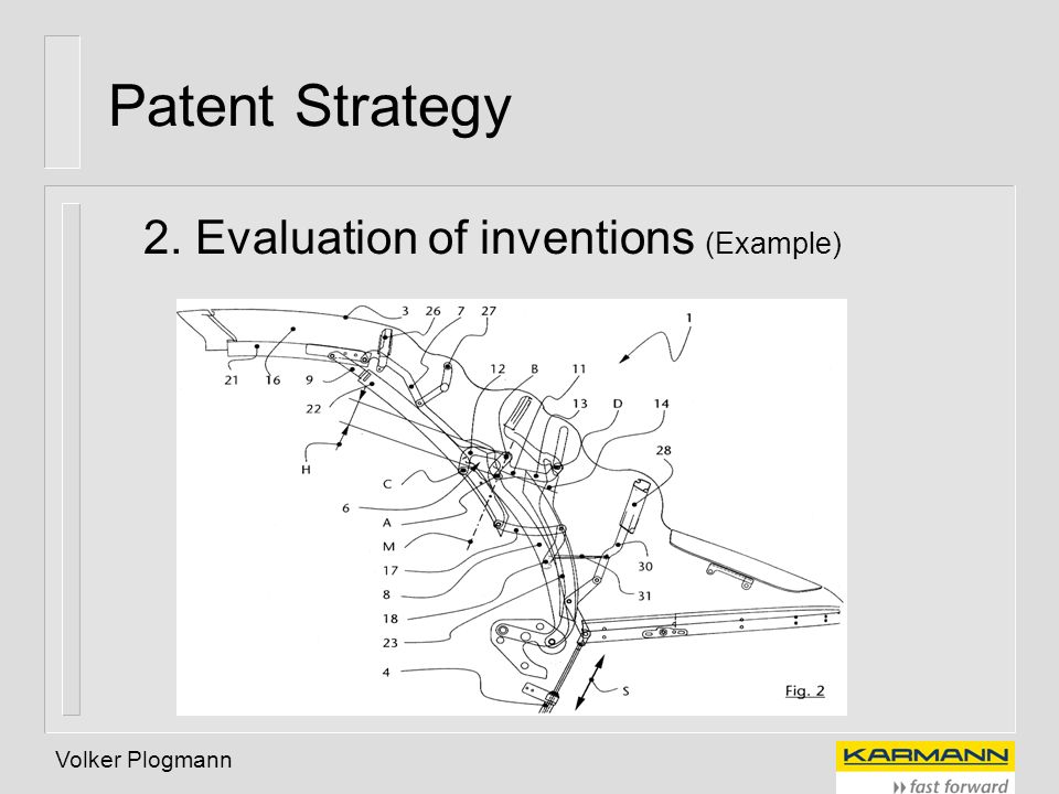 Patent Strategy 2. Evaluation of inventions (Example) Volker Plogmann