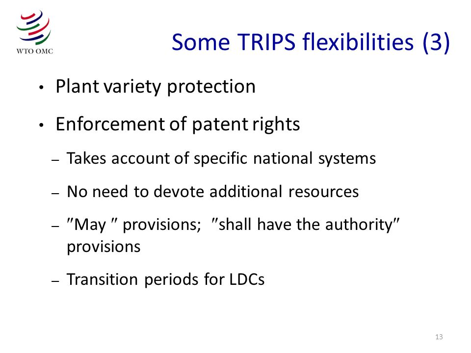 Some TRIPS flexibilities (3)