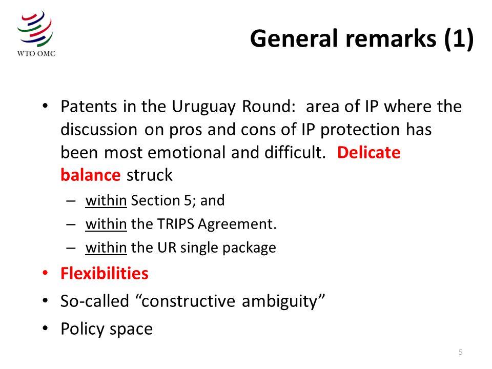 General remarks (1)