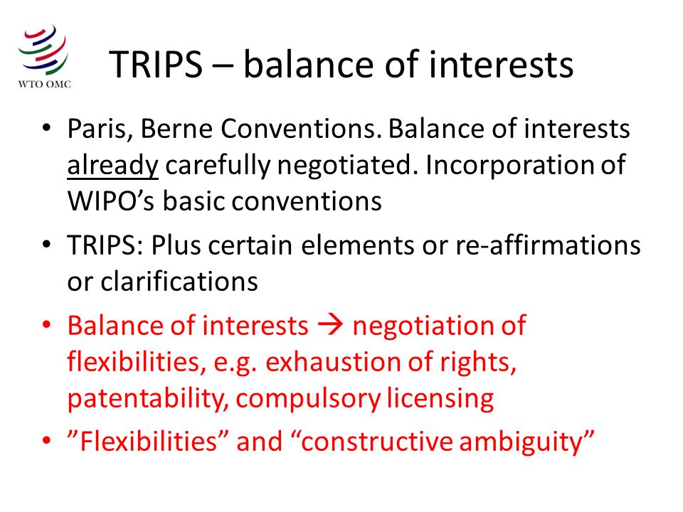 TRIPS – balance of interests