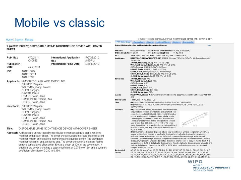 Mobile vs classic