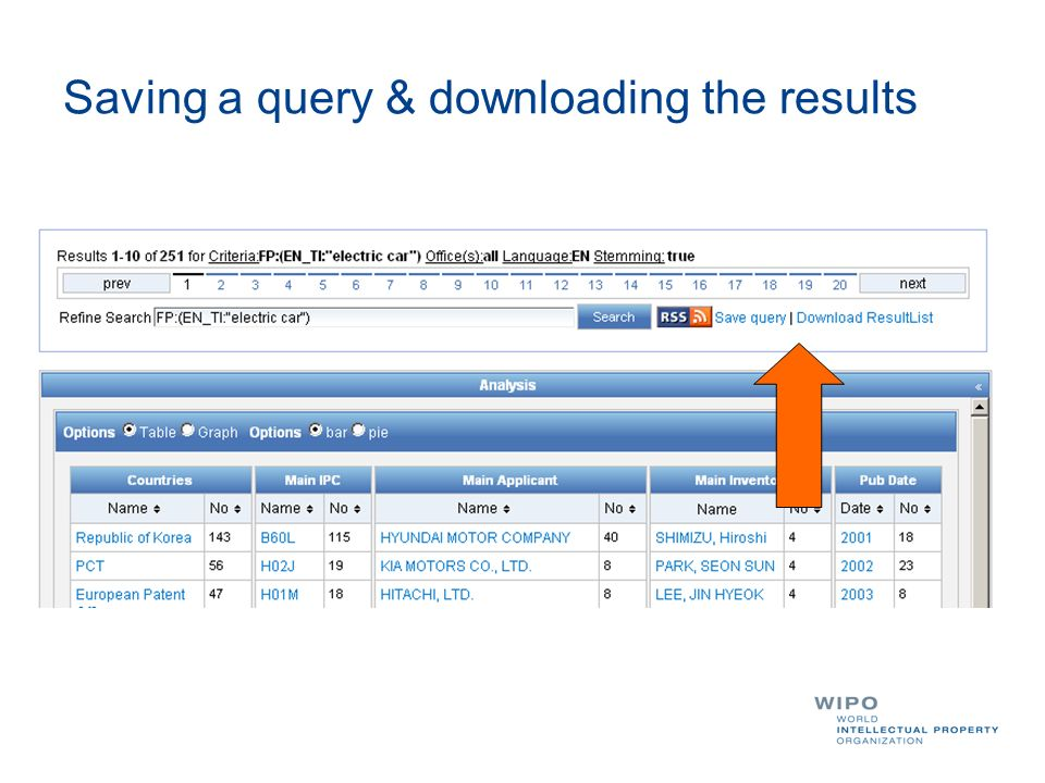 Saving a query & downloading the results