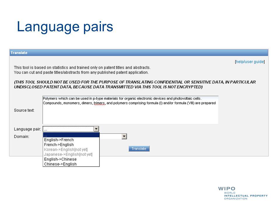 Language pairs