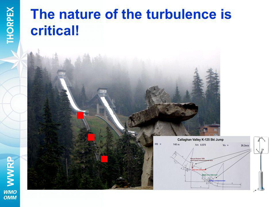 The nature of the turbulence is critical!