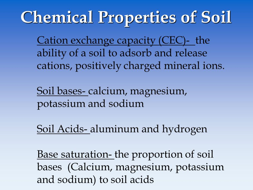 Chemical Properties Of Sand Soil