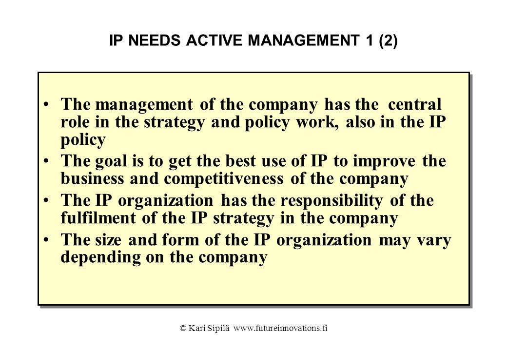 IP NEEDS ACTIVE MANAGEMENT 1 (2)