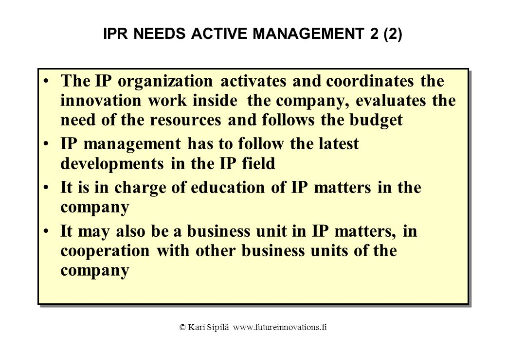 IPR NEEDS ACTIVE MANAGEMENT 2 (2)