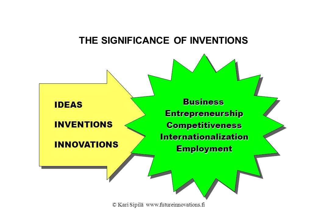 THE SIGNIFICANCE OF INVENTIONS